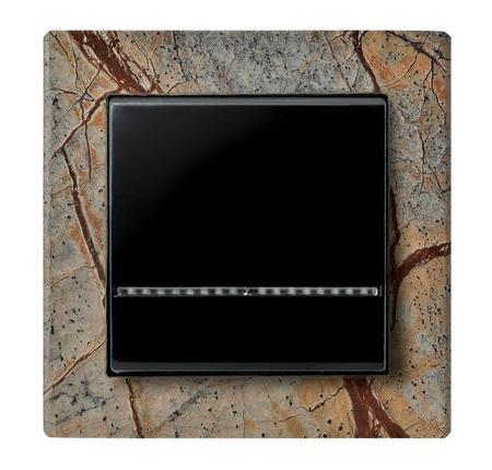 Łącznik jednobiegunowy ŁP-1RS/33 ramka z kamienia Forest Brown seria Sonata OSPEL
