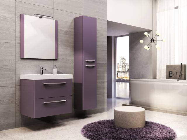 Fioletowe Czy Czerwone Meble łazienkowe Aranżacje łazienek