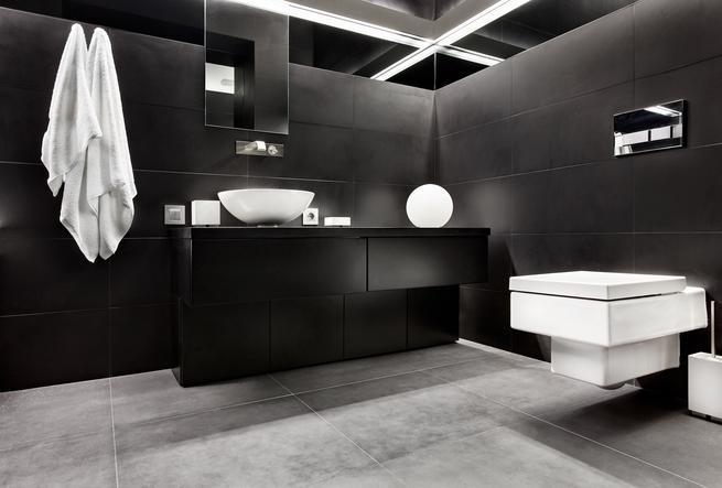 Czarna łazienka jako najmodniejsza aranżacja wnętrz