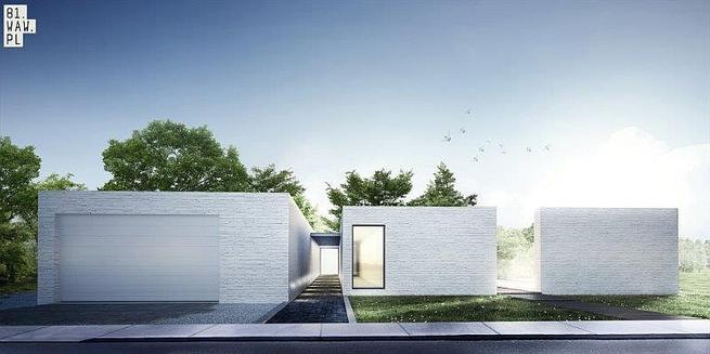 Nietypowy dom jednorodzinny. Projekt domu na zamówienie
