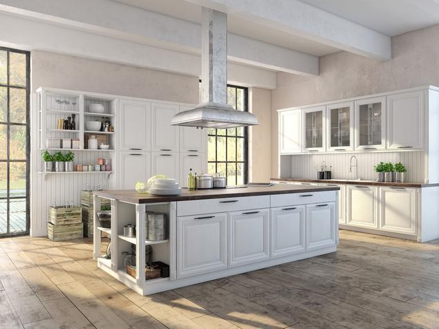 Kuchnia z wyspą w stylu retro – pomysł na vintage kuchnię