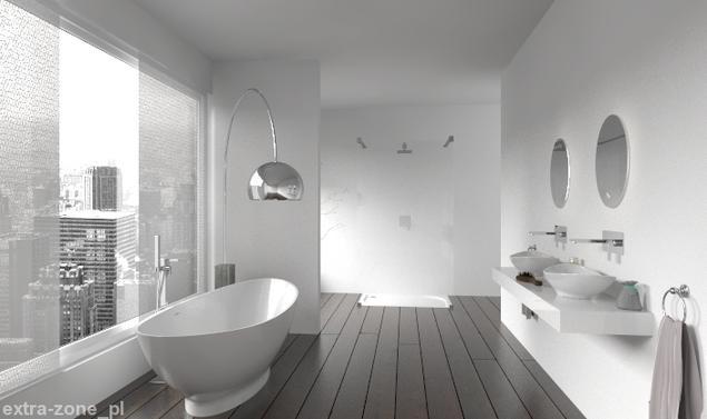 Zobacz galerię zdjęć Biała łazienka w mieście. Nowoczesne aranżacje łazienki  Stronywnętrza.pl ...